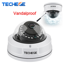 Techege 2MP 48V POE IP Camera 4MP POE Camera 2592*1520 Vandalproof Waterproof Night Vision IR 25M P2P ONVIF Motion Detection