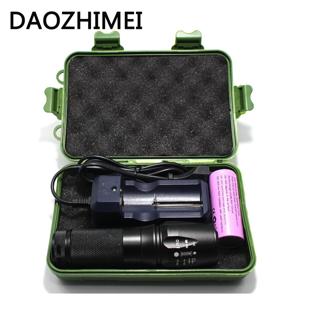 Zoomable IR 850nm 5w Night Vision OSRAM Infrared LED Flashlight Torch Lamp light led Camping Flashlight +26650Battery+charger фонарь osram flashlight 15 ledil205