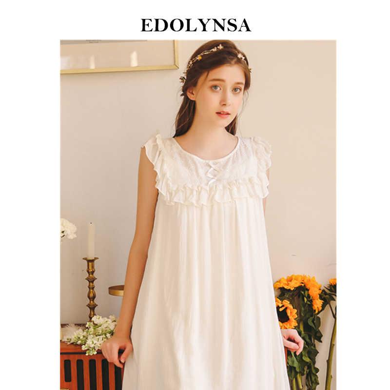 Фото 2019 летняя одежда для сна женщин Домашняя Ночные рубашки элегантные с круглым