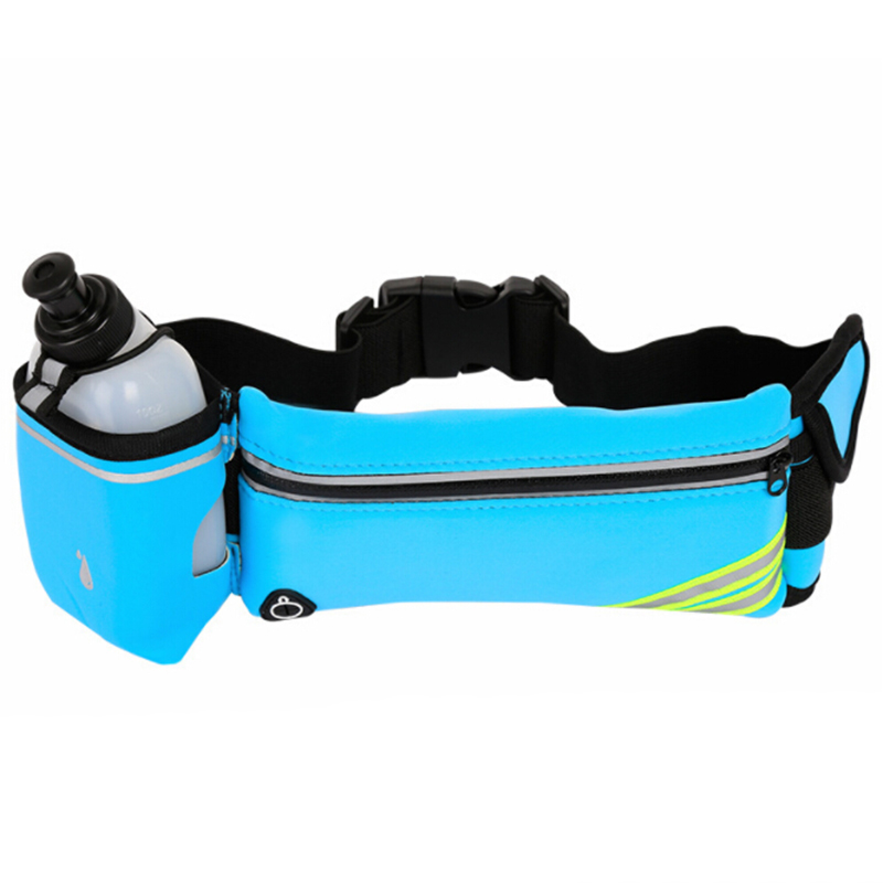 Waterproof Running Hydration Belt Bags Reflective Outdoor Sport Hip Phone Bag Racing Fitness Gym Bag Waist Pack With 1 Bottle 30(China)