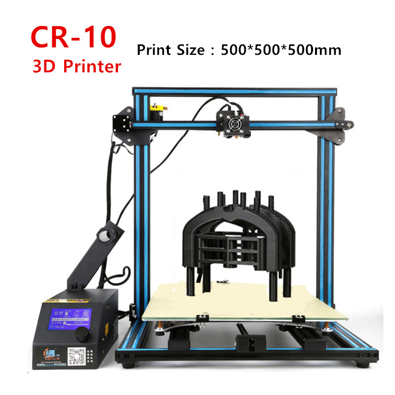 Creality CR-10 3D Printer Print Size 500*500*500mm DIY Desktop DIY 3 D Printer Kit Metal Frame Free Filament Free Shipping 2017 easy build 3d printer cr 10 large print size 500 500 500mm with filaments hotbed sd card tools as a gift creality 3d