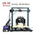 Creality cr-10 serie 3D impresora tamaño de impresión 500*500*500mm Brico-Escritorios DIY 3D Kit de impresora metal Marcos el envío libre del filamento