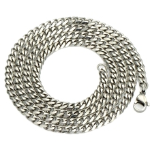 """KUNIU Gourmette Man Jewelry 5/7MM 20""""/22""""24"""" Necklace Stainless Steel Chains Silver Cuban Chain Necklace Cuban for Men"""