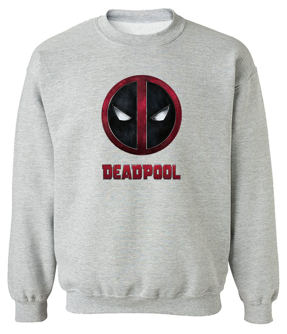 Man Sweatshirts 2019 Fleece Spring Autumn Hoodies DEADPOOL Printed Sweatshirt Pop Fashion Hoody Casual Men's Sportswear Tops Men