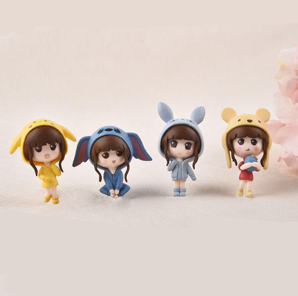 4pcs Cosplay Girl Miniature Fairy Garden Home Decoration Mini Doll Toy  Craft Dollhouse Micro Decor DIY Christmas Gift-in Figurines & Miniatures  from
