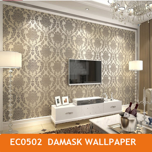 Aliexpress.com : Buy Damask Floral Wallpapers Luxury Wall Paper ...