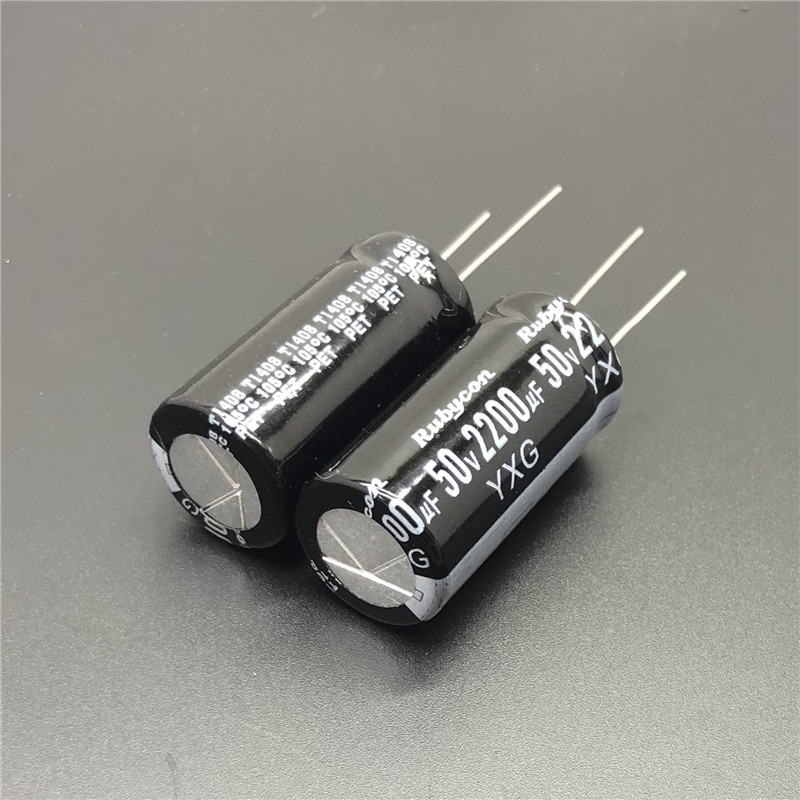 5Pcs/20Pcs/50Pcs 2200uF 50V RUBYCON YXG Series 18x35mm 50V2200uF High Ripple Current Long Life Electrolytic Capacitor