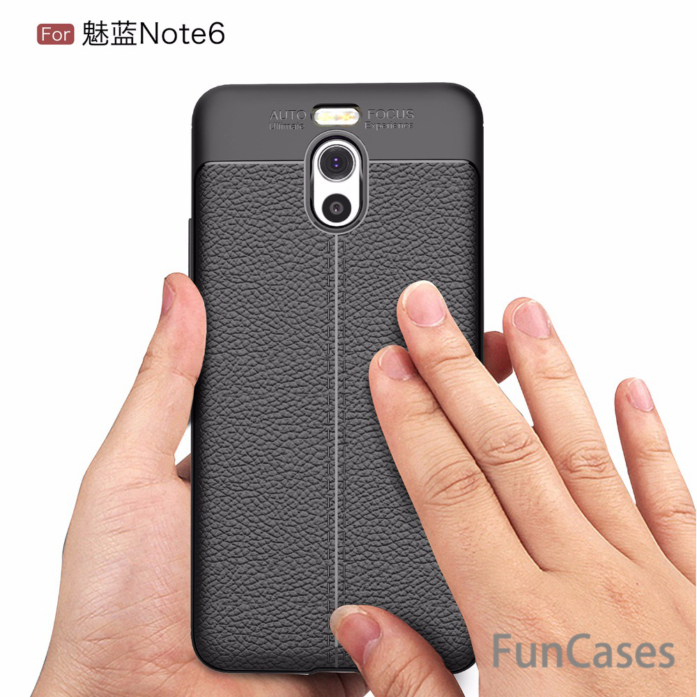 M6 Note Phone Cases for Meizu M6 Note Case 5.5 inch New Luxury Ultra-Thin Rubber Soft TPU Leather Cases for Meizu M6 Note Case image