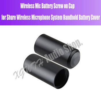 Battery-covers Wireless Mic Battery Screw on Cap/Cup/Cover Microphone Cover for Shure PGX/SLX PGX2/PGX4/SLX4/SLX2 BETA58 SM58 image
