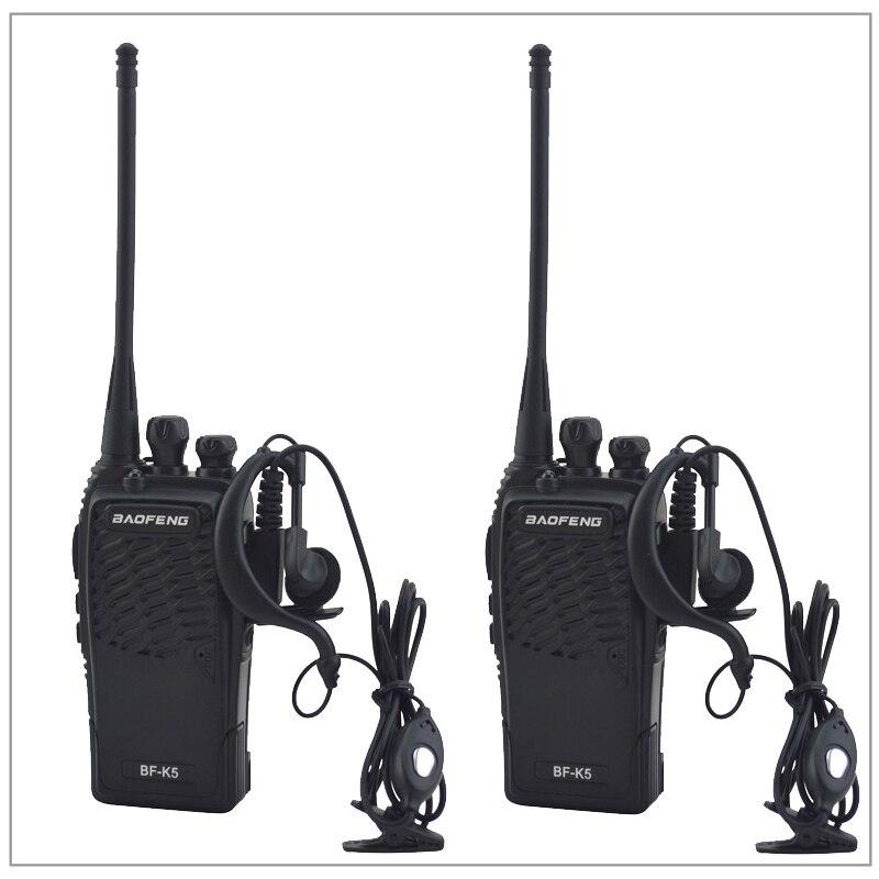 2 teile/los Baofeng BF-K5 UHF 400-480 MHz Portable Two-way radio Transceiver Baofeng Walkie-talkie für schinken, hotel mit Freier hörmuschel