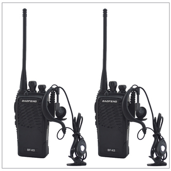 2pcs/Lot Baofeng BF-K5 UHF 400-480MHz Portable Two-way radio Transceiver Baofeng Walkie-Talkie for ham,hotel with Free earpiece 2pcs quansheng tg uv2 plus walkie talkie 10km 10w 4000mah ham radio uhf vhf radio ham hf transceiver cb radio tg uv2 2 way radio