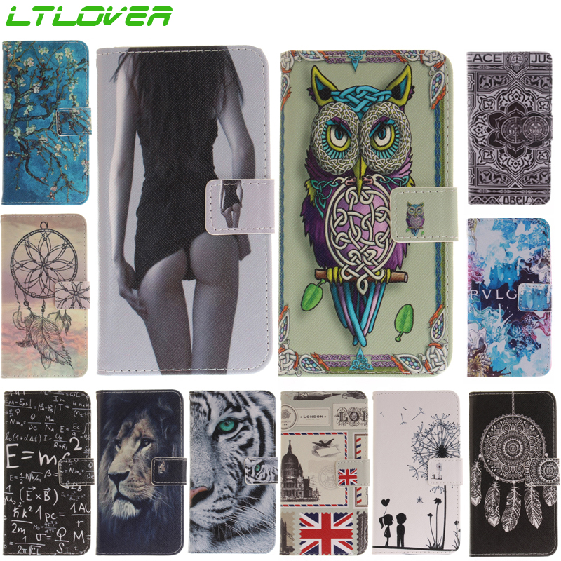 fashion sexy girl tiger owl cute pu Leather Magnetic Flip phone Case For Huawei Honor 9 wallet stand card slots phone cover