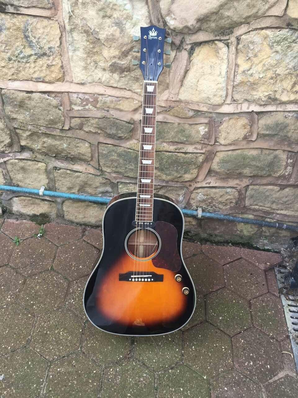 Livraison gratuite J160E style sunburst guitare acoustique 160e acoustique en bois massif guitare électrique