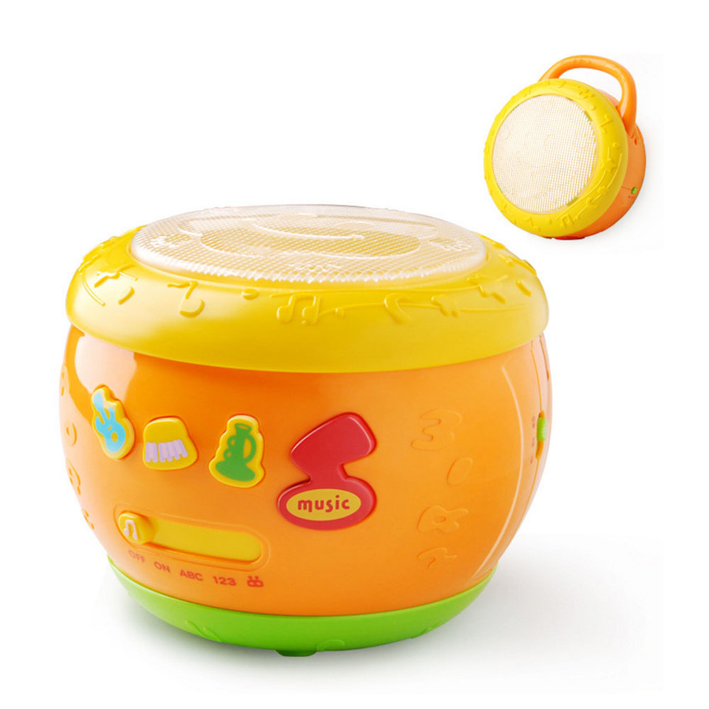 Детский игрушечный барабан английские детские песни легкая музыка мелодия Pat барабаны ударные игрушки Раннее развитие ребенка игрушечный барабан