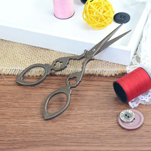 ZOTOONE Steel Tailor Scissors Antique Craft Embroidery Trimming Vintage Zig Zag Sewing Accessories Thread Cutter Tools