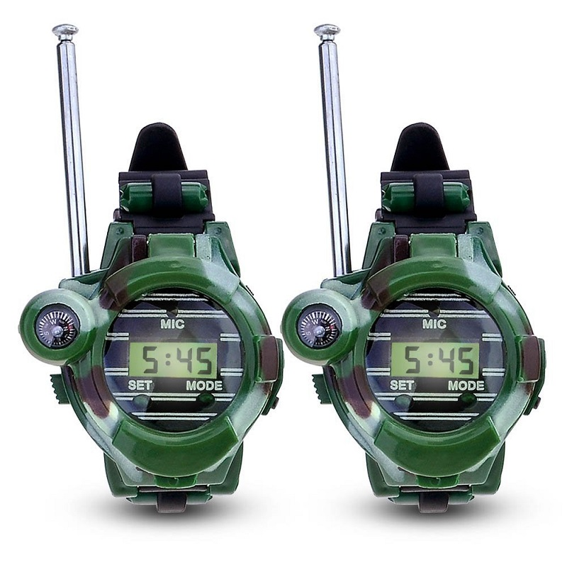 7 In 1 Toy Walkie Talkies Watch For Kids Camouflage Style Walkie Talkies Toys Children Outdoor Interphone Toy With Original Box