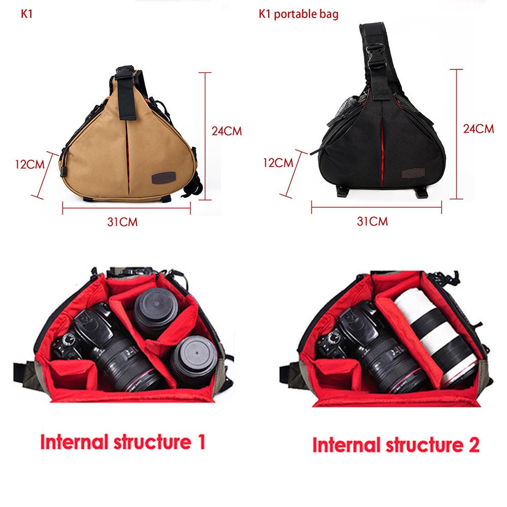 CADEN K1 K2 Camera Bag Photo Backpack DSLR Bag Waterproof Small