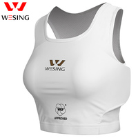 Wesing Women Karate Taekwondo Chest Guard Female MMA Boxing Muay Thai Chest Protector Girl Protective Gear