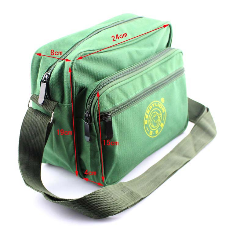 Small tool kit bags shoulder style army green canvas bags color electrician repair kits backpack free