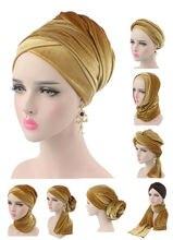 Nhung Thời Trang Nữ Hijab Nón Khăn Phụ Nữ Hồi Giáo Khăn Trùm Đầu Băng Đô Cài Tóc Turban Gọng Mũ Đội Đầu Nón Nữ Phụ Kiện Tóc Hồi Giáo Bên Trong Nắp Mới