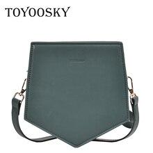 TOYOOSKY Luxury brand handbag fashion small crossbody bags for women evening shouleder irregular pentagon ladies belt