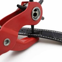 Belt Puncher Punch Pliers Multi-function Eye Manual Tool 9 Inch Red Handle Punching