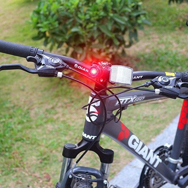 À prova dwaterproof água da bicicleta cauda traseira led capacete ciclismo lanterna de aviso segurança lâmpada ciclismo luz advertência segurança 5