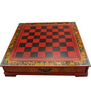 Image 4 - 新しい木製チェス中国のレトロな兵馬チェス木製古い彫刻樹脂駒特大チェスピースプレミアムyernea