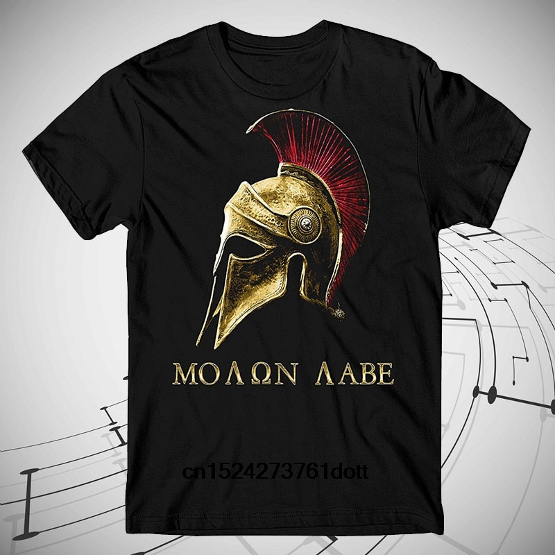 Newest Cotton Solid Color Shirt Molon Labe Come And Take It Three Percenter T-shirt