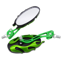 1 Pair 8mm/10mm Universal Motorcycle Rearview Mirror Handle Bar End Side Mirrors Motocross Accessories Aluminum