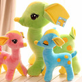 1pcs 17cm Cute Gift Plush Mini Sika Deer Giraffe Soft Toy Candy color Animal Dear Doll Baby Kid Child Birthday Happy Colorful