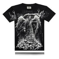 تعزيز الصيف الرجال بلايز مطبوعة تي شيرت جولة طوق الرقبة تيز رجل camisetas قصيرة الأكمام