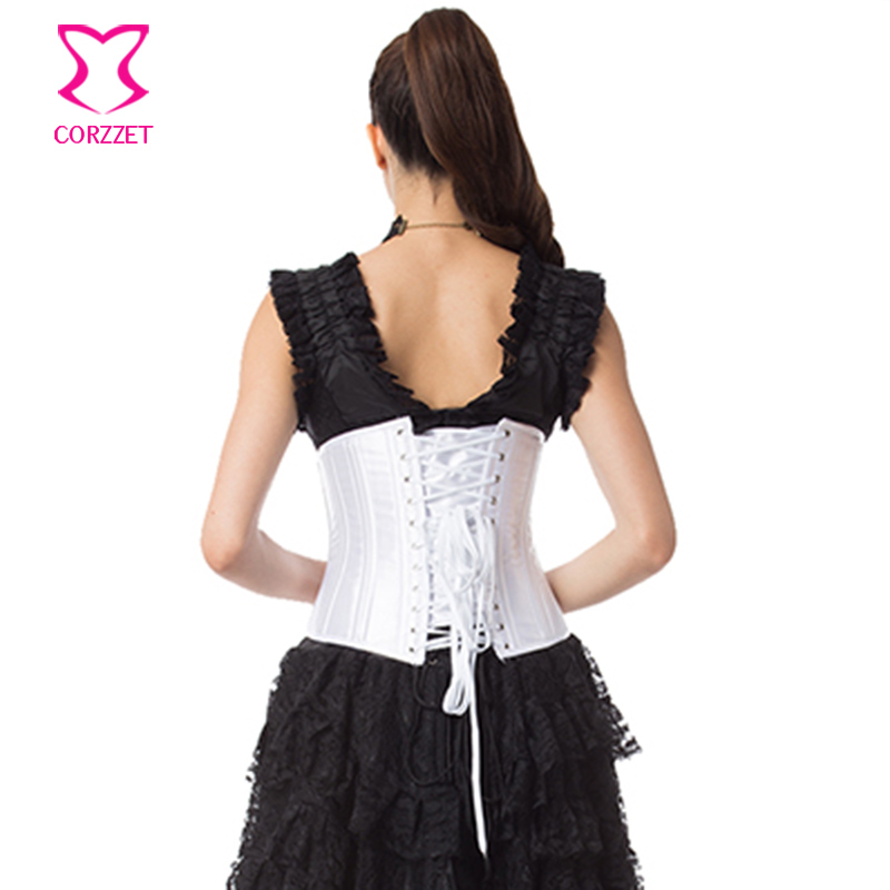 c0756f65f7 6XL 24 Steel Boned Underbust Corset Gothic Clothing Plus Size Espartilhos E  Corpetes Corsets And Bustiers White Korset For Women