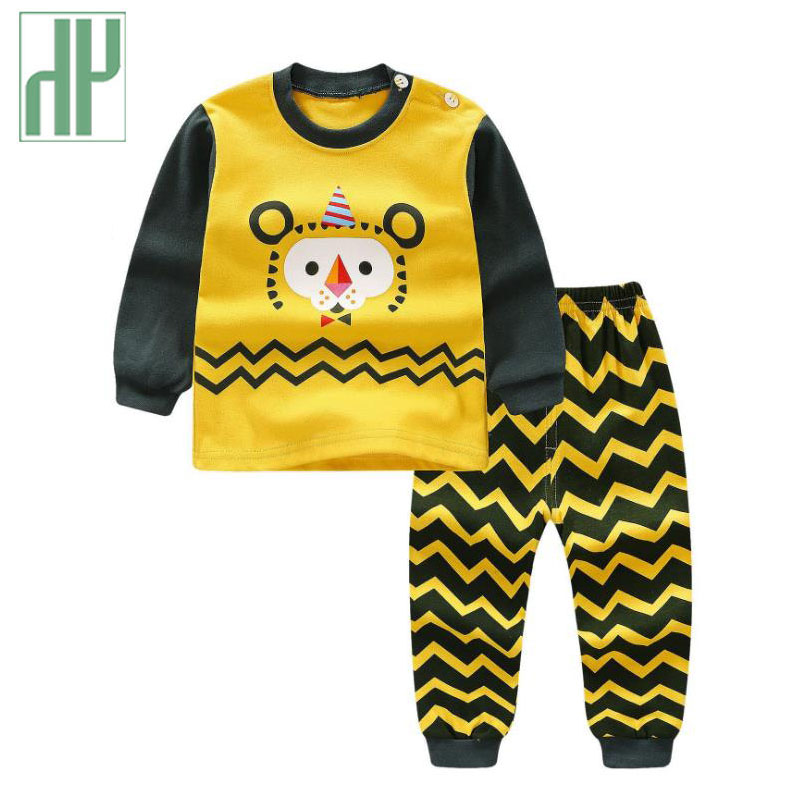 Baby clothing cartoon long-sleeved Casual t-shirt+pants two piece set fall baby girls clothing infant baby boy tracksuit Outfits