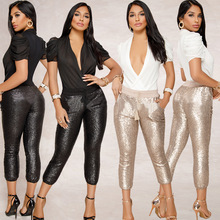 Trousers women 2019 fall New Fashion Ladies Sexy Night Club Party Pants Women autumn Sequined Pencil spodnie damskie
