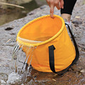 Water Carrier new PVC tarpaulin Outdoor Foldable collapsible  Water bucket container water tank bag 5L free shipping