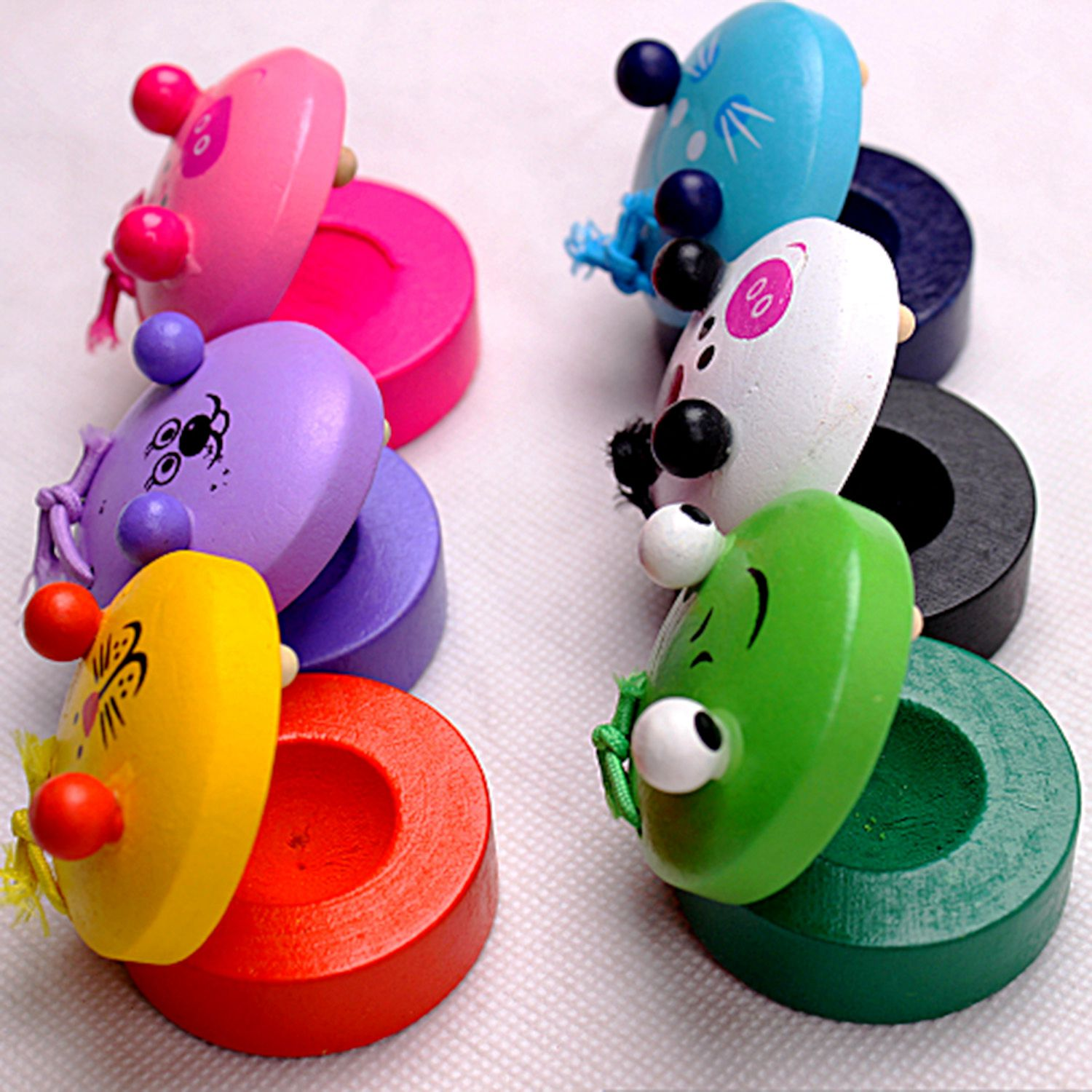 Cartoon Castanet Toys For Kids Children Toy Musical Instrument Preschool Early Educational Toys