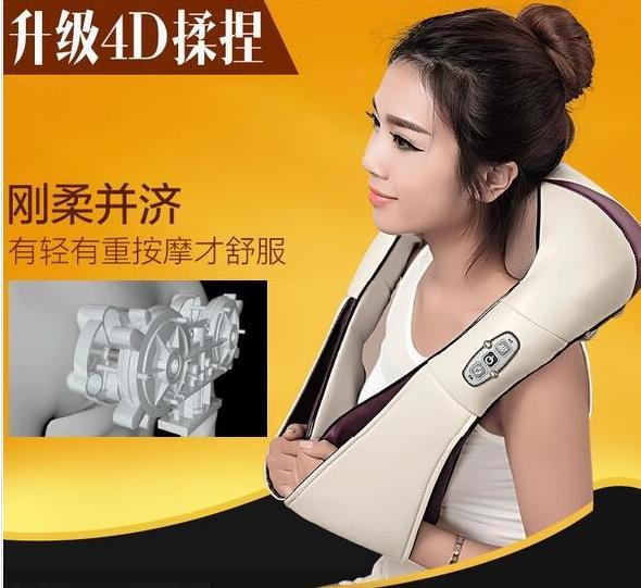 Wholesale- 10pcs/CTN neck shoulder massager belt anti cellulite massager Multifunction acupuncture kneading heating belt недорого