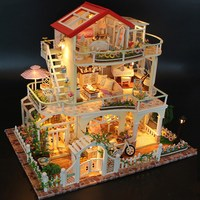 Hoomeda 13845 Be Enduring As The Universe DIY Dollhouse With Music Light Cover Miniature Model Best