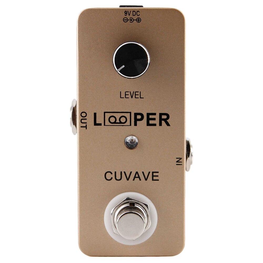 CUVAVE Looper pédale effet guitare 24 bits ton non compressé sans perte 5 Minutes effets d'enregistrement Stompbox pour guitare électrique