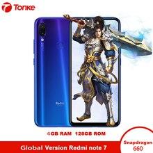 Küresel Sürüm xiaomi Redmi Not 7 4 GB RAM 128 GB ROM cep telefonu Snapdragon 660 Octa Çekirdek 6.3