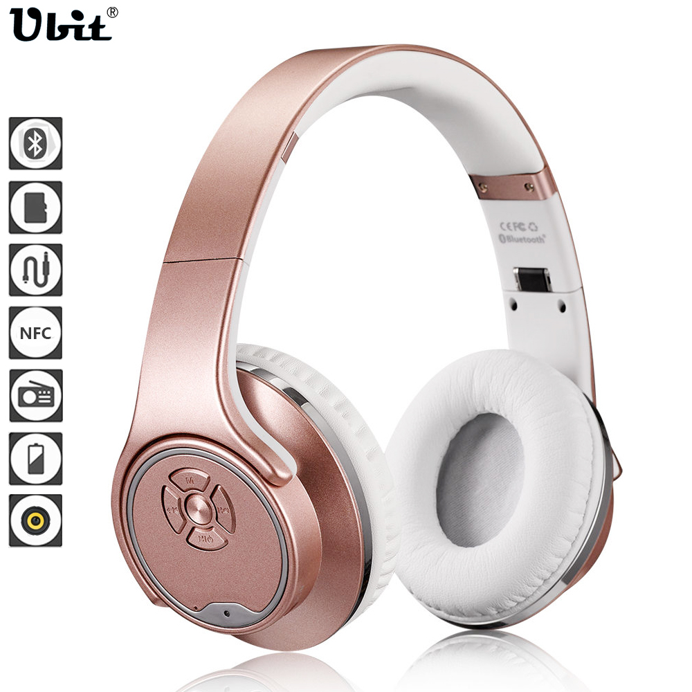 Ubit MH1 NFC 2in1 Twist-out Speaker Bluetooth Headphone With FM Radio /AUX/TF Card MP3 Sports Magic Headband Wireless Headset ats 829 led mega bass bluetooth speaker with tf card slot aux in fm radio microphone for iphone samsung pink