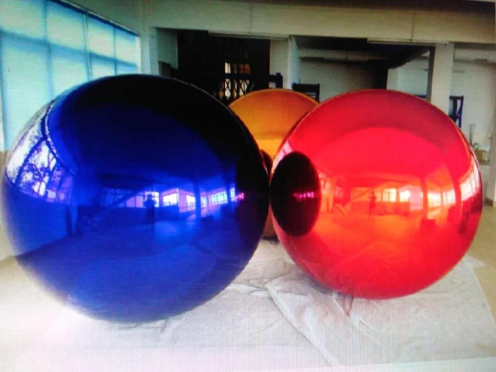 vruće 0,8 m modni božićni ukras na napuhavanje ogledalo loptu za - Zabava na otvorenom i sportovi - Foto 3