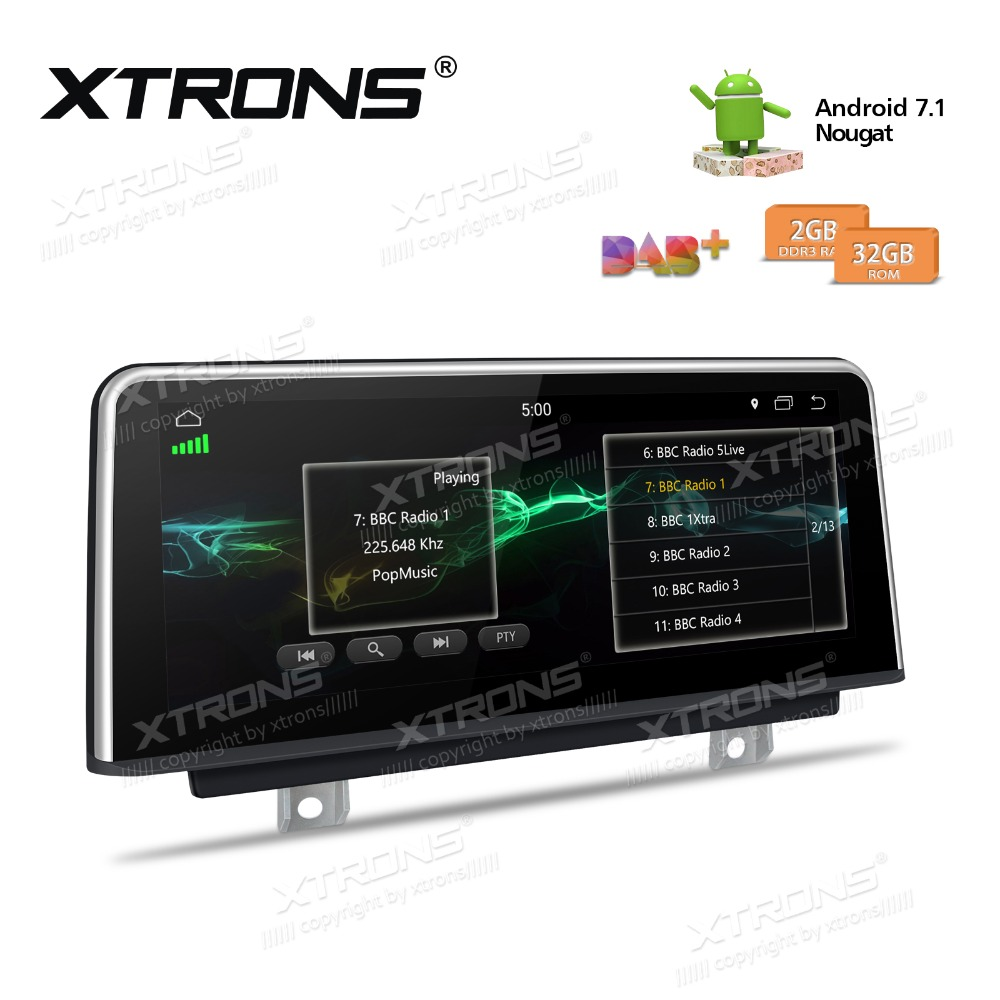 1080P Video for BMW 3 Series 4 Series F30//F31//F34//F32//F33//F36 XTRONS 10.25 Inch Car Stereo Android 7.1 Multimedia Navigation System Bluetooth Head Unit Car Radio Player Supports Wifi GPS DAB