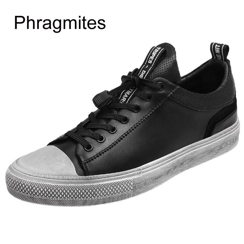 Phragmites nouveau automne hommes chaussures décontractées en cuir d'été hommes à lacets appartements trous chaussures de marque de luxe pour hommes livraison directe