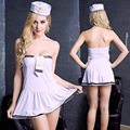 Women Sexy  Costumes Cosplay Sexy underwear night club wear Navy sailors Uniforms Lingerie Mini Dress