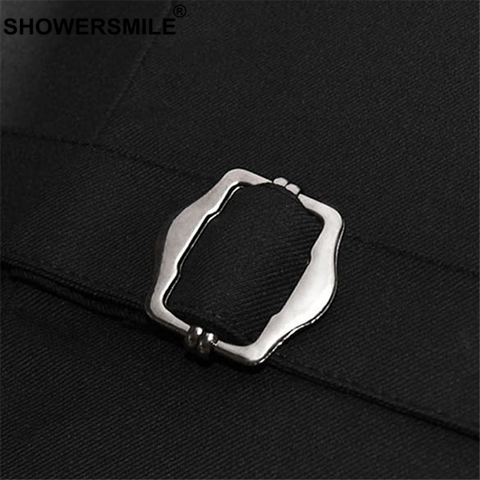 SHOWERSMILE Gray Women Vest Office Wear Slim Fit Waistcoat Female Spring Formal Sleeveless Jackets With One Button