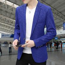 Spring 2017 new new men's clothing suits mens autumn jacket korean small suit fashion pattern suit jaqueta masculino big size