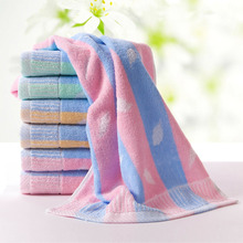 100 pure cotton towel classic leaves design is very practical to wipe the face towel soft