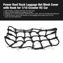OCDAY T-Power Imperiaal Bagage Netto Carrier Mesh Cover met Haak voor 1/10 Crawler RC Auto Crawler CC01 AXIALE SCX10 RC4WD D90(China)